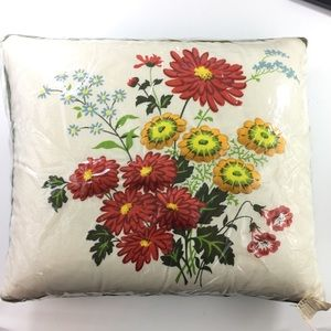 Other - Mid Century Vintage Floral Fabric Throw Pillow